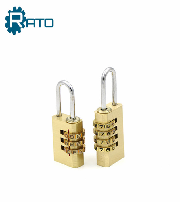 Anti Rust 38MM 4-Dial Solid Brass Resettable Padlock