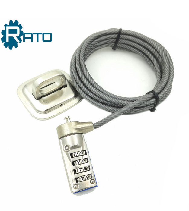 Chrome Plated Computer Laptop Security Digital Combination Cable Lock