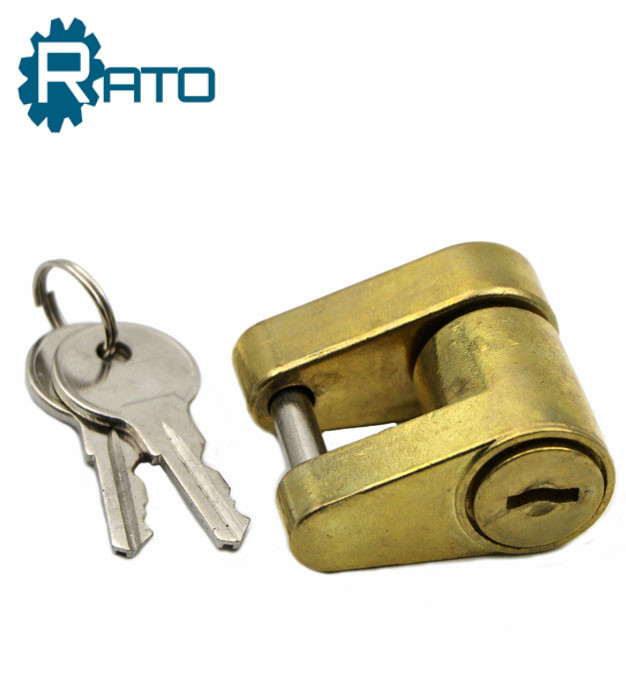 Key Brass Trailer Coupler Receiver Lock