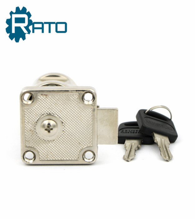 Zinc Alloy Desk Drawer Lock With Handle And Key