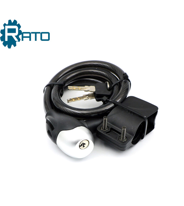 Cable steel wheel lock for motorcycle