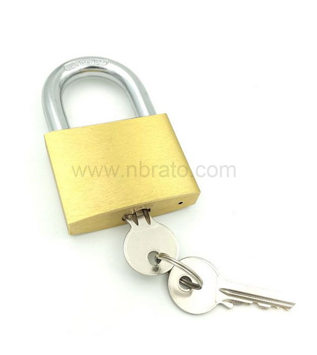 Heavy duty 40mm tri-circle solid brass padlock