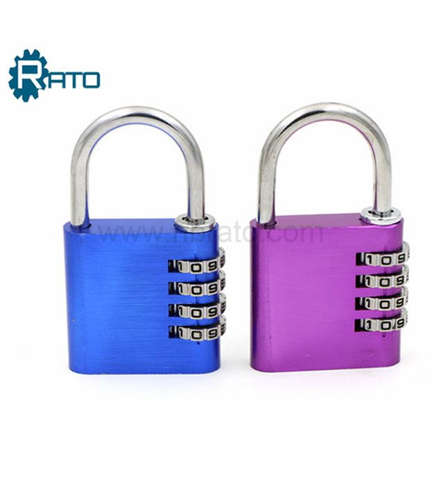 4 Digit Aluminum Alloy Combination Luggage Padlock