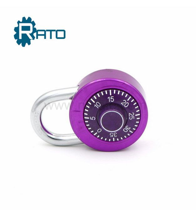 Round 50MM Dial Combination padlock for GYM Lockers
