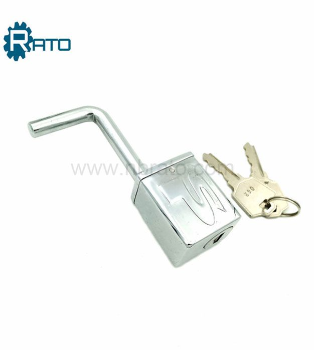 Chrome-plated Ball Deadbolt Hitch Trailer lock