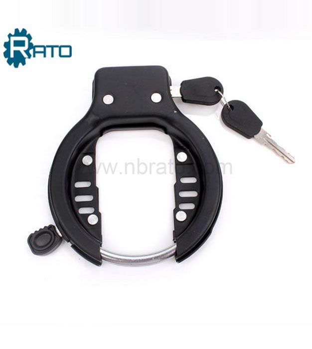 Round shape frame bicycle lock
