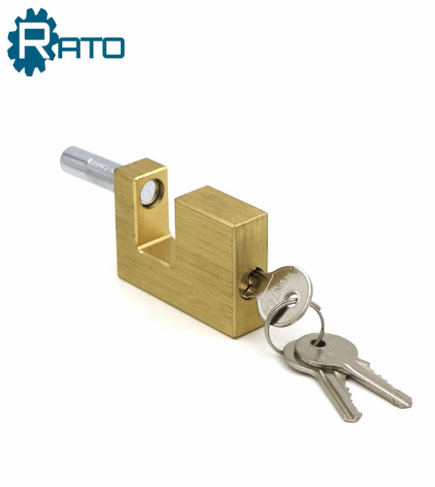 70MM D-Shaped Solid Brass Body Rectangle Security Padlock