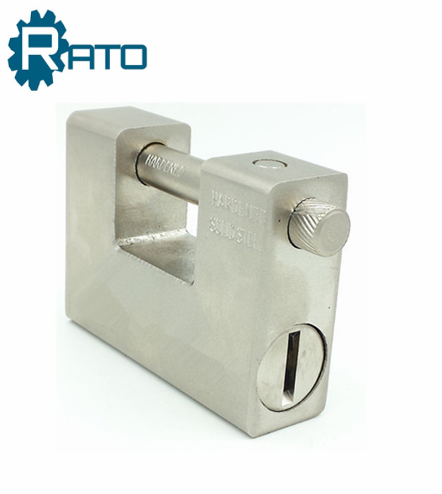 70 MM Chrome-plated Rectangle Padlock with Brass Key