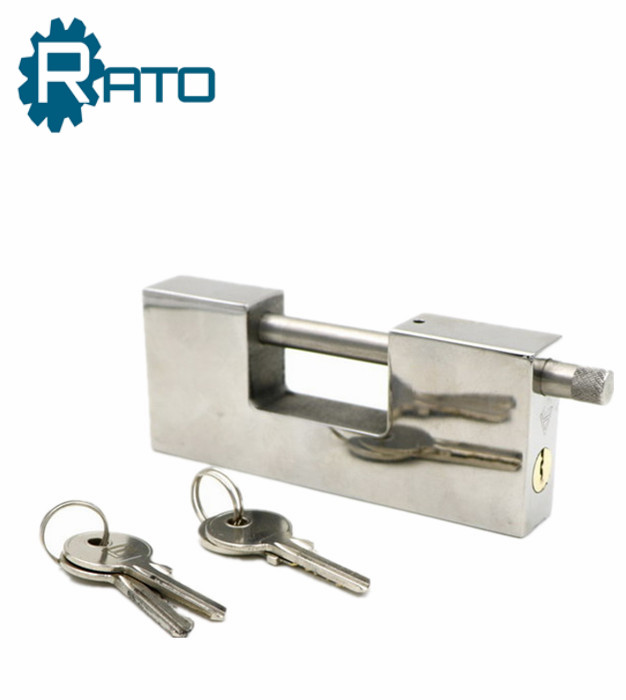 Heavy Duty Guard Rectangular Stainless Steel Security Padlock