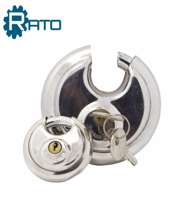2 3/4-inch High Security Round Stainless Steel Disc Padlock
