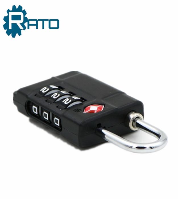Black Security 3 Digit Combination TSA Luggage Lock