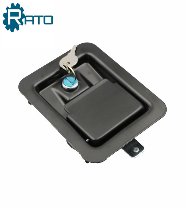 Black Trailer Toolbox Paddle Latch Lock
