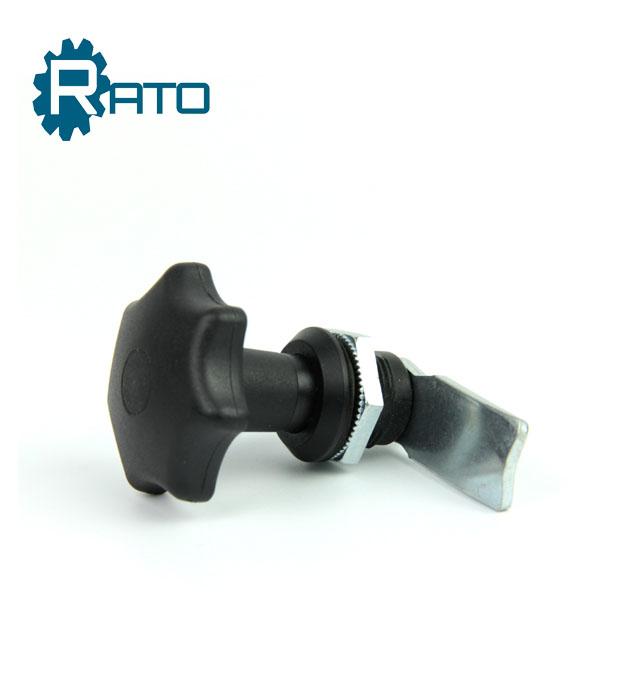 T Shape Handle Thread Mounted Plastic Cabinet Door Lock