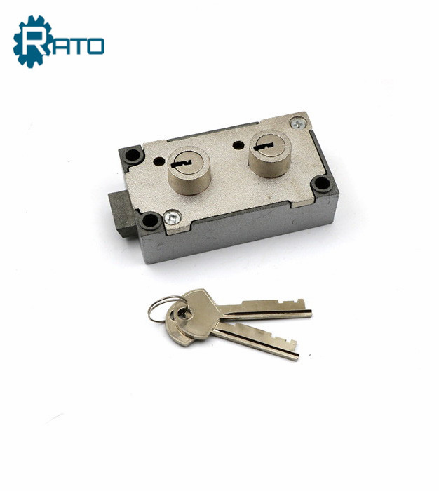 Double Key Bank Safe deposit box lock