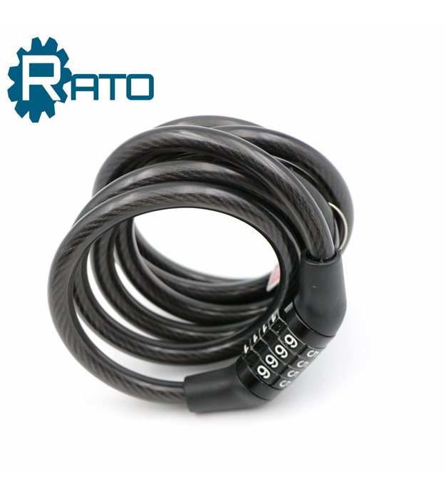 Steel Remote Anti-theft 4 Digit Bike Combination Cable Lock