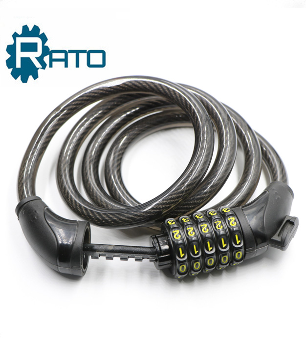 High quality 4 digital bike combination cable wire lock