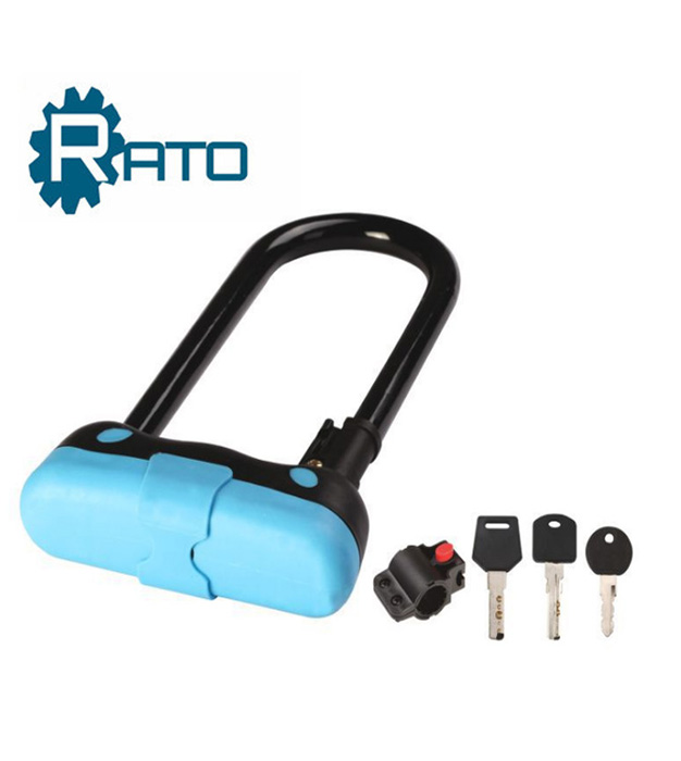 High Quality And Anti-theft Blue U Shackle bike lock