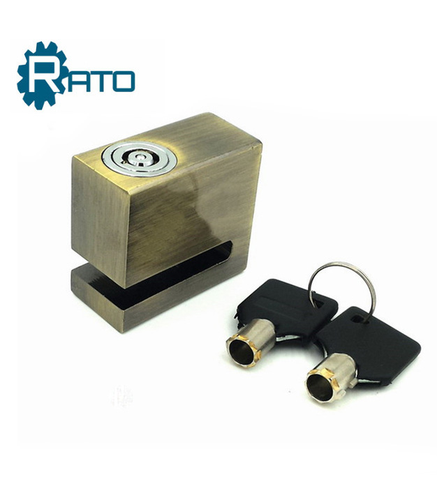 Safe Iron Motorcycle Bicycle Square Disc Brake Lock