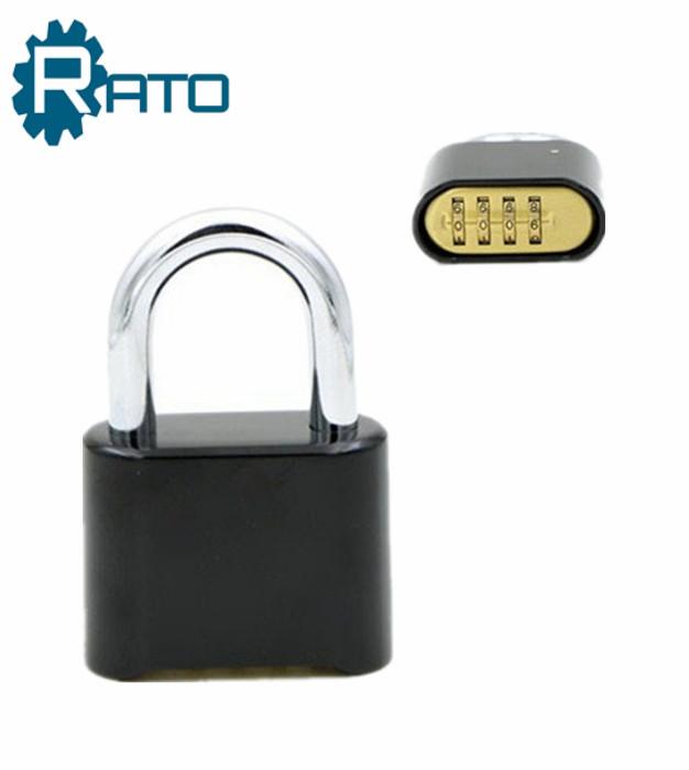Black 4 Digital Bottom Combination Safe Padlock