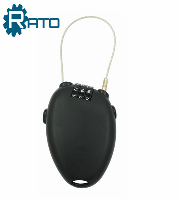 Anti-Theft 3-Dial Retractable Cable Lock