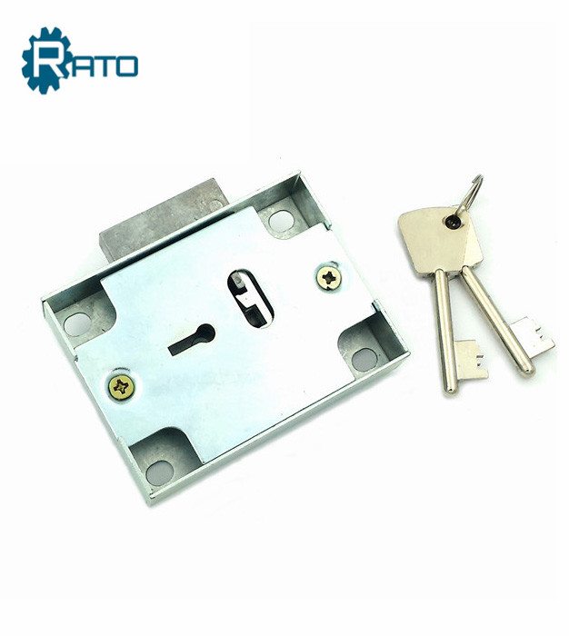 Cabinet  brass 7 lever safe key lock