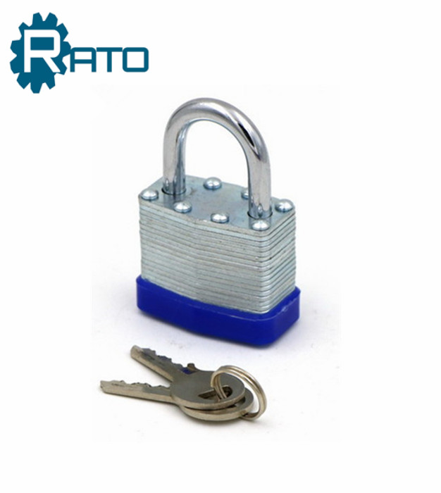 Iron Material Brass Cylinder 6mm Shackle Laminated Lock
