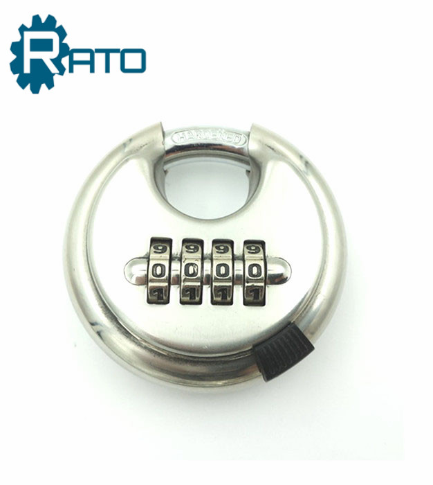 Heavy Duty 4 Code 70 mm Stainless Steel Disc Combination Padlock