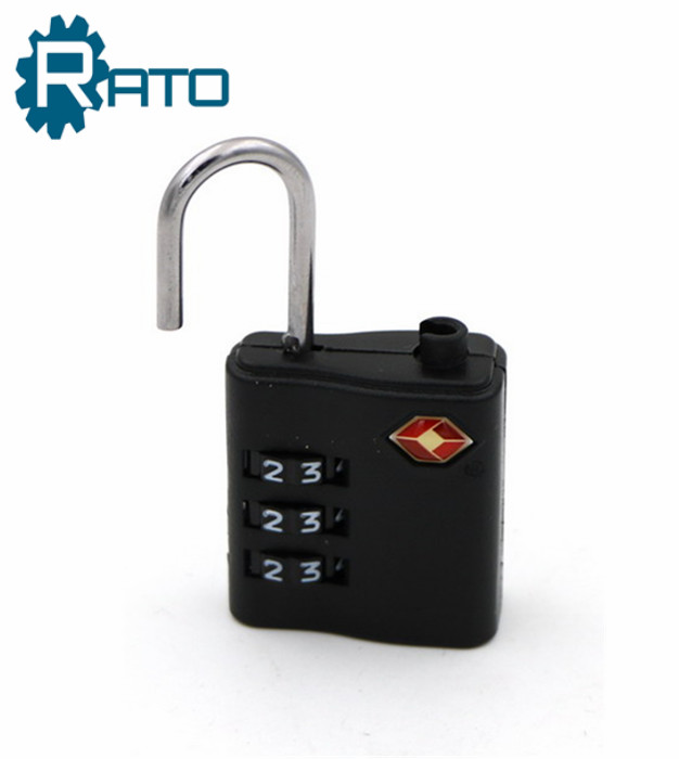 Combination TSA Plastic Wheel Approved Mini Padlock