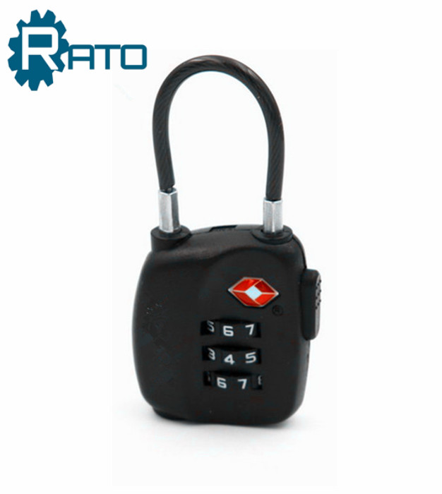 TSA Security PC Luggage 3 Digit Changeable Combination Padlock
