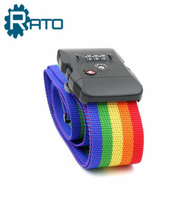 Combination TSA 3 Digital Colorful Luggage Belt Lock