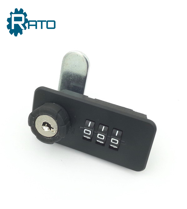 Resettable 3 digits mechanical combination cabinet lock with password