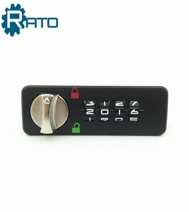 4digitmechanicalBlack ABS Plastic combinationlock forlocker