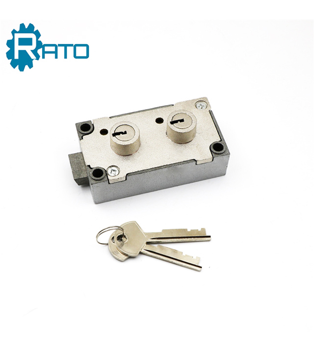 Double Bit Key Safe Deposit Box Lock