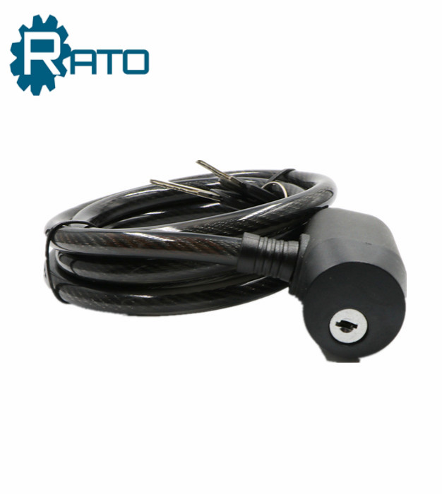 Steel Small Anti-theft Chain Lock Core with Keys Wire Cable Bike Lock