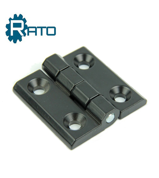 Black Cupboard Door 50mm x 50mm Zinc Alloy Ball Bearing Butt Hinge