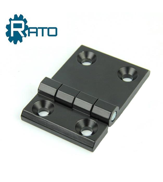 Black Cupboard Door 50mm x 50mm Zinc Alloy Ball Bearing Butt Hinge