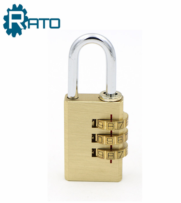 Small Brass 3 Digital Polishing Copper Padlock