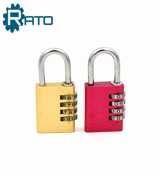 High Quality Aluminum Outdoor Colored Combination Padlock