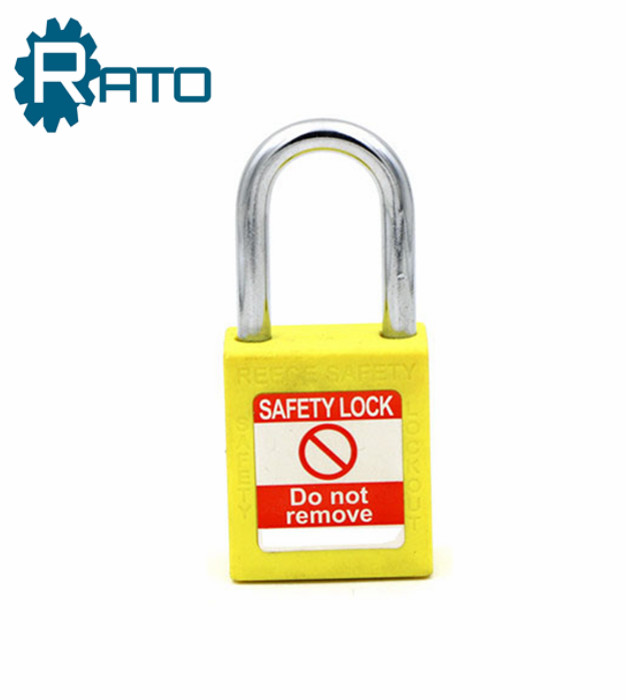Plastic Steel Shackle Safety Padlock