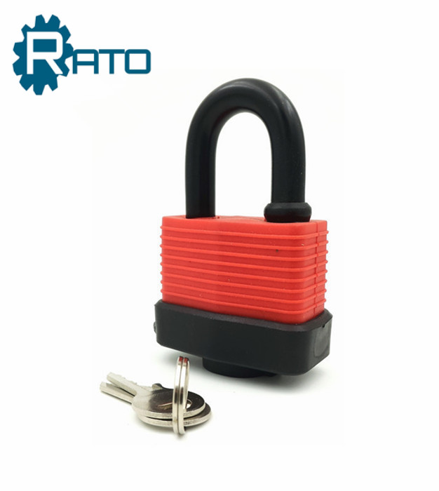 Cheap Iron Rubber Cover Waterproof Padlock