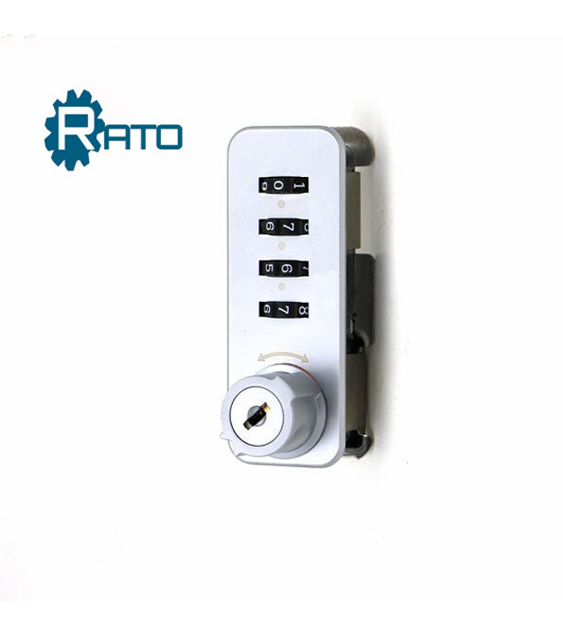 Combination lock for file cabinet with master key system
