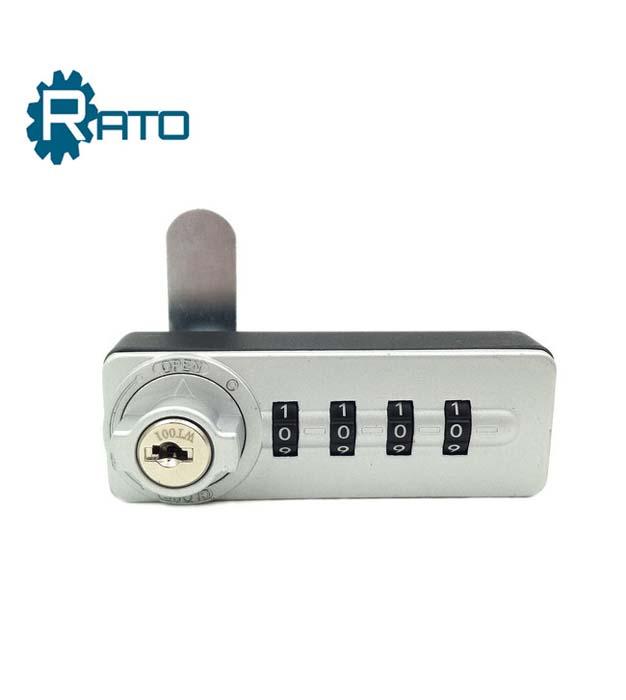 Furniture Door 4 Digital Hidden Cabinet Lock with Keys