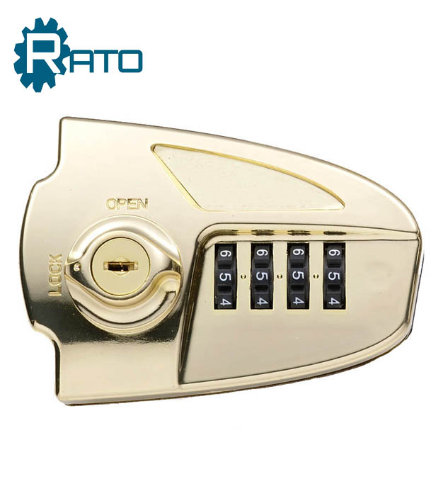 Golden Digital Code Number Locks With Master Key