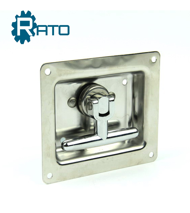 Stainless steel T bar car box gas cabinet lock