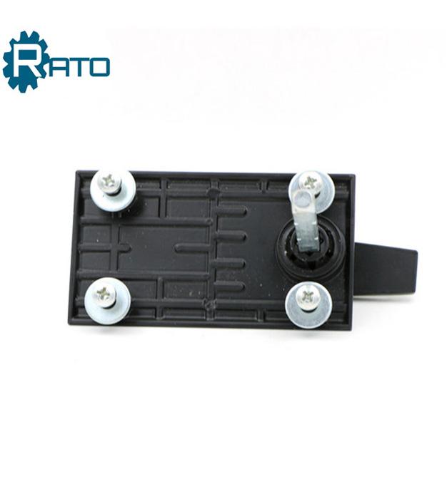 Square Spindle Garage Door Black Handle