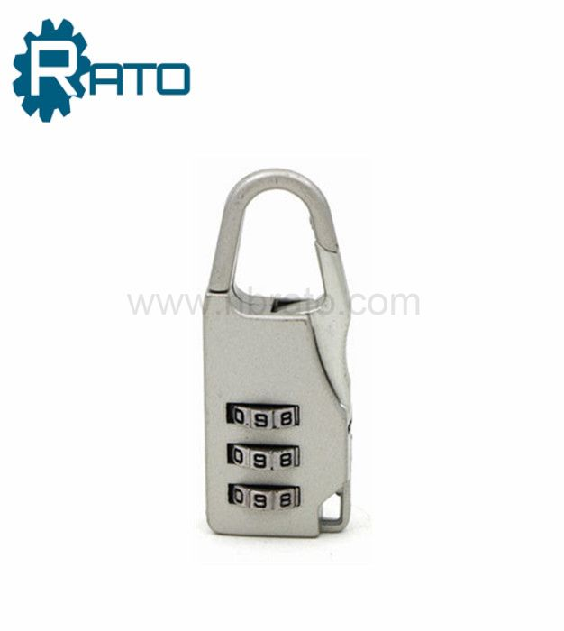 Small 3 Dials Plastic decorative Padlock with combination