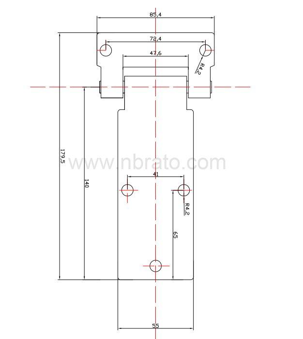 Stainless Steel Automotive Trailer Generator Carriage Door Industrial Hinge