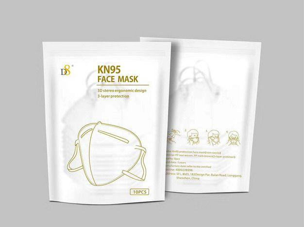 CE FDA certificate 5 layer Protective Mask FFP2 KN95 Respirator Face Mask