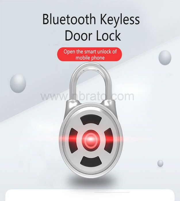 High quality intelligent bluetooth keyless door lock with smartphone app smart padlock