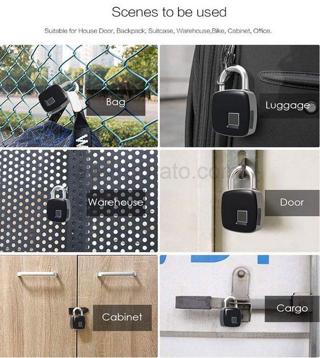 Theft Non-password Electrically Intelligent Fingerprint Padlock
